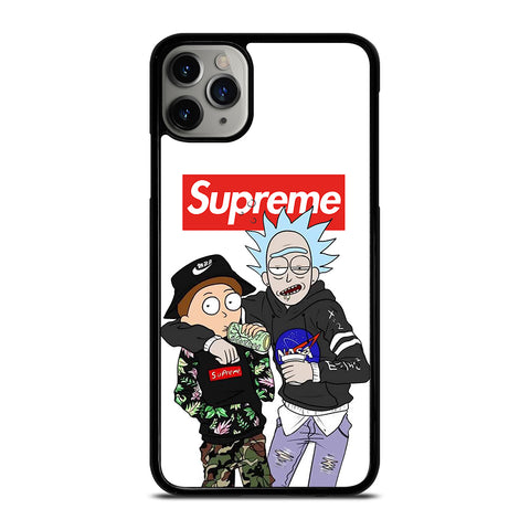 SUPREME RICK AND MORTY iPhone 6/6S 7 8 Plus X/XS XR 11 Pro Max Case - Cool Custom Phone Cover