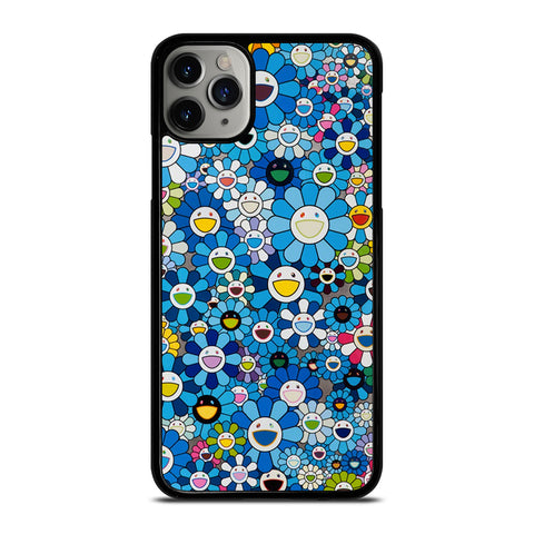TAKASHI MURAKAMI FLOWERS BLUE iPhone 6/6S 7 8 Plus X/XS XR 11 Pro Max Case - Cool Custom Phone Cover