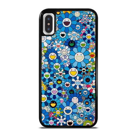 TAKASHI MURAKAMI FLOWERS BLUE-iphone-x-case-cover