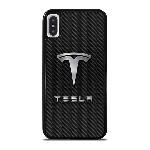 TESLA MOTORS CARBON-iphone-x-case-cover