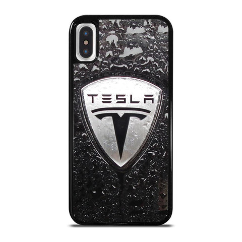 TESLA MOTORS EMBLEM-iphone-x-case-cover