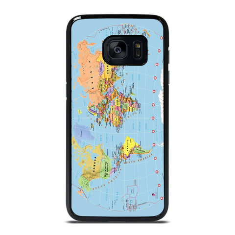 THE WORD MAP Samsung Galaxy S7 Edge Case Cover