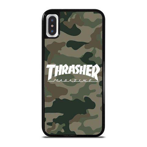 THRASHER SKATEBOARD MAGAZINE CAMO-iphone-x-case-cover