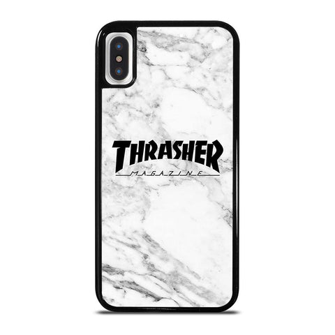 THRASHER SKATEBOARD MAGAZINE MARBLE-iphone-x-case-cover