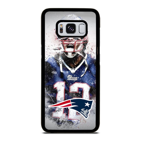 TOM BRADY NEW ENGLAND PATRIOT ART-samsung-galaxy-S8-case-cover