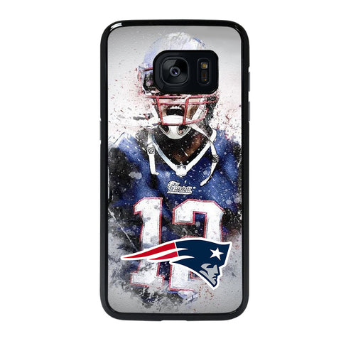 TOM BRADY NEW ENGLAND PATRIOT ART-samsung-galaxy-s7-edge-case-cover