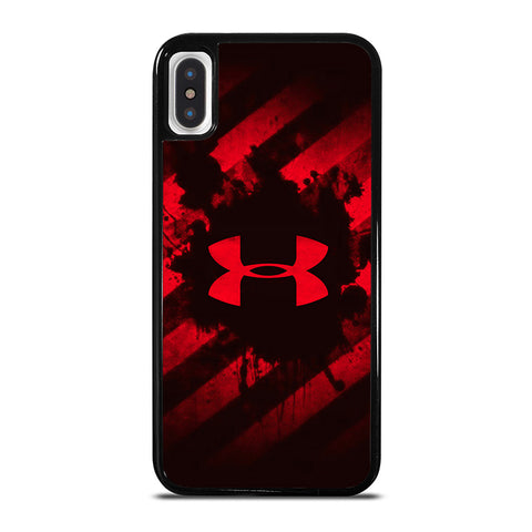 UNDER ARMOUR RED STRIPE LOGO iPhone X / XS Case - Best Custom Phone Cover Cool Personalized Design