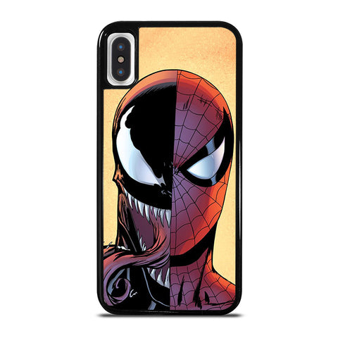 VENOM VS SPIDERMAN FACE iPhone X / XS Case - Best Custom Phone Cover Cool Personalized Design