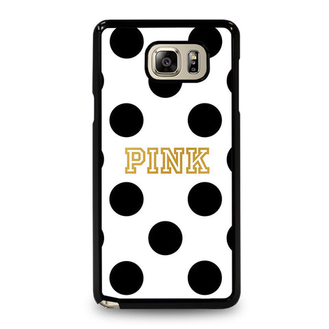 VICTORIA S SECRET PINK POLKADOTS-samsung-galaxy-note-5-case-cover