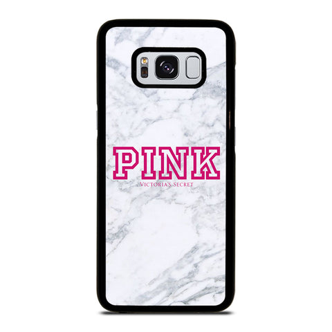 VICTORIA'S SECRET PINK MARBLE-samsung-galaxy-S8-case-cover
