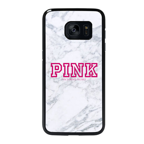 VICTORIA'S SECRET PINK MARBLE-samsung-galaxy-#REF!-edge-case-cover