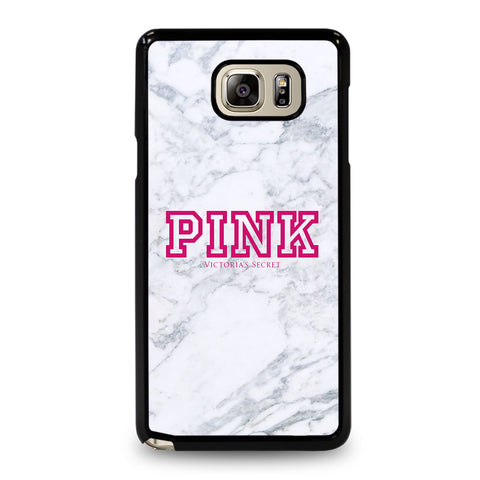 VICTORIA'S SECRET PINK MARBLE-samsung-galaxy-note-5-case-cover