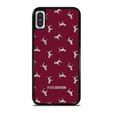 VICTORIA'S SECRET PINK NATION DOG-iphone-x-case-cover