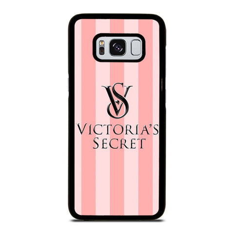 VICTORIA'S SECRET PINK STRIPES-samsung-galaxy-S8-case-cover