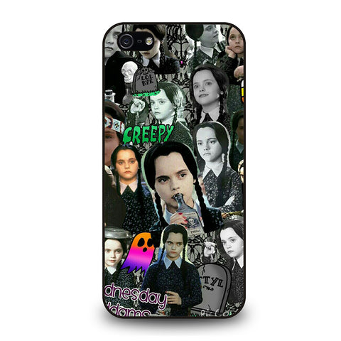 WEDNESDAY ADDAMS COLLAGE iPhone 5 / 5S / SE Case Cover