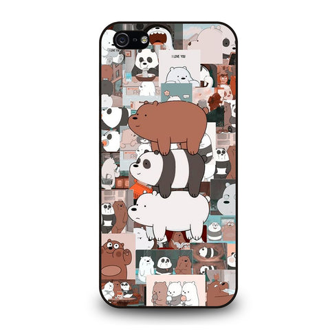 WE BARE BEARS COLLAGE iPhone 5 / 5S / SE Case Cover
