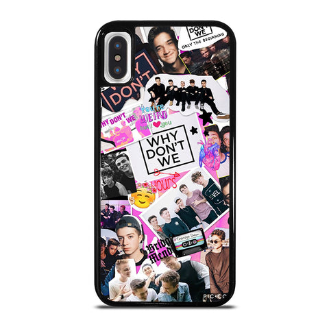 WHY DON'T WE COLLAGE iPhone X / XS Case - Best Custom Phone Cover Cool Personalized Design