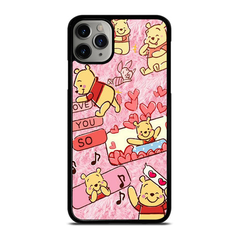 WINNIE THE POOH CUTE CARTOON iPhone 6/6S 7 8 Plus X/XS XR 11 Pro Max Case - Cool Custom Phone Cover