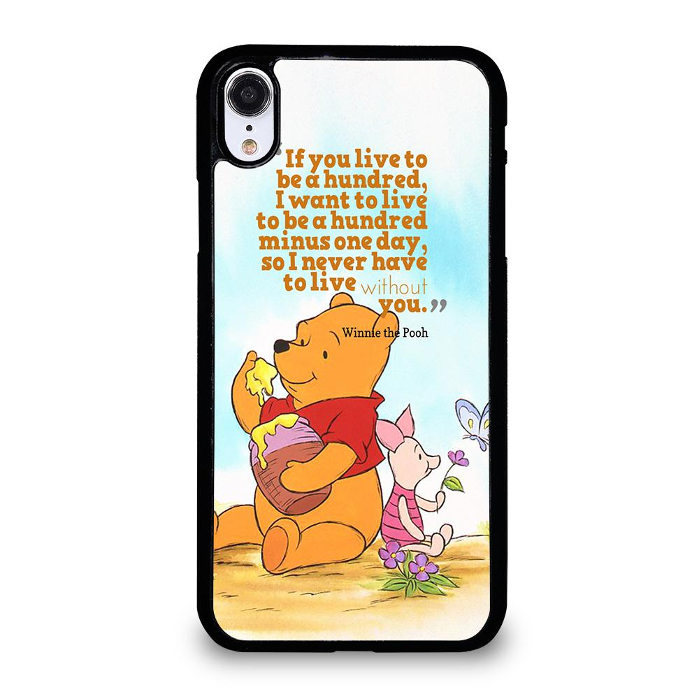 new arrival a77a8 ac981 WINNIE THE POOH QUOTE Disney iPhone XR Case Cover - Favocase