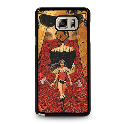 WONDER WOMAN CARTOON-samsung-galaxy-note-5-case-cover
