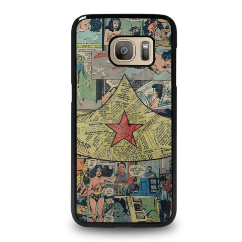 WONDER-WOMAN-COLLAGE-samsung-galaxy-S7-case-cover