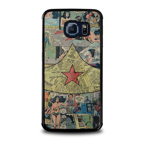 WONDER-WOMAN-COLLAGE-samsung-galaxy-s6-edge-case-cover