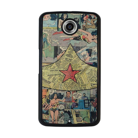 WONDER-WOMAN-COLLAGE-nexus-6-case-cover