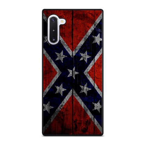 WOODEN REBEL FLAG-samsung-galaxy-note-10-case-cover