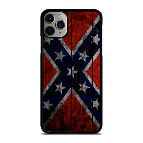 WOODEN REBEL FLAG iPhone 6/6S 7 8 Plus X/XS XR 11 Pro Max Case - Cool Custom Phone Cover