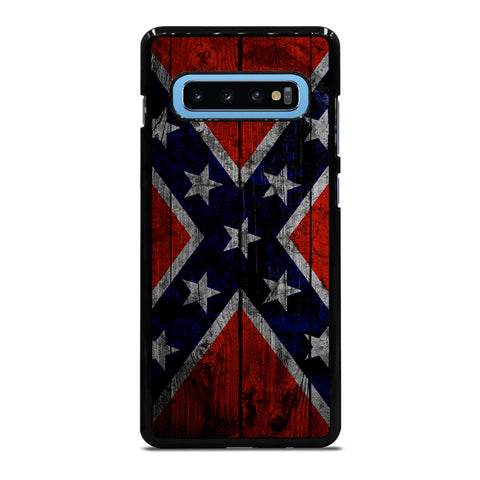 WOODEN REBEL FLAG Samsung Galaxy S4 S5 S6 S7 S8 S9 S10 S10e Edge Plus Note 4 5 8 9 Case Cover