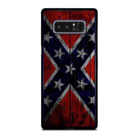 WOODEN REBEL FLAG-samsung-galaxy-note-8-case-cover