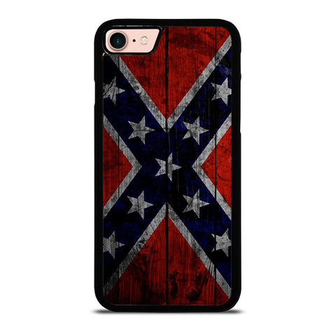 WOODEN REBEL FLAG-iphone-8-case-cover