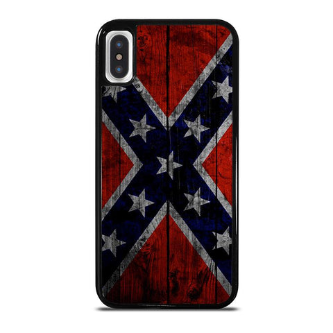 WOODEN REBEL FLAG-iphone-x-case-cover
