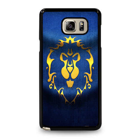 WORLD OF WARCRAFT ALLIANCE WOW FLAGE-samsung-galaxy-note-5-case-cover