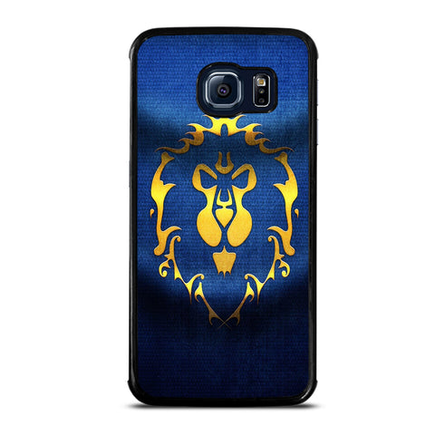 WORLD OF WARCRAFT ALLIANCE WOW FLAGE-samsung-galaxy-S6-edge-case-cover