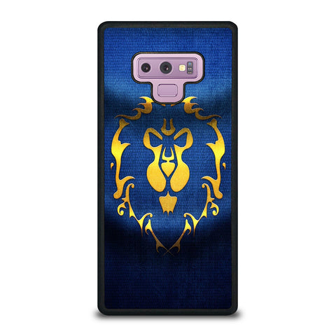 WORLD OF WARCRAFT ALLIANCE WOW FLAGE-samsung-galaxy-note-9-case-cover