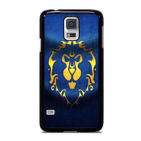 WORLD OF WARCRAFT ALLIANCE WOW FLAGE-samsung-galaxy-S5-case-cover