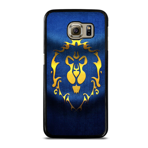 WORLD OF WARCRAFT ALLIANCE WOW FLAGE-samsung-galaxy-S6-case-cover