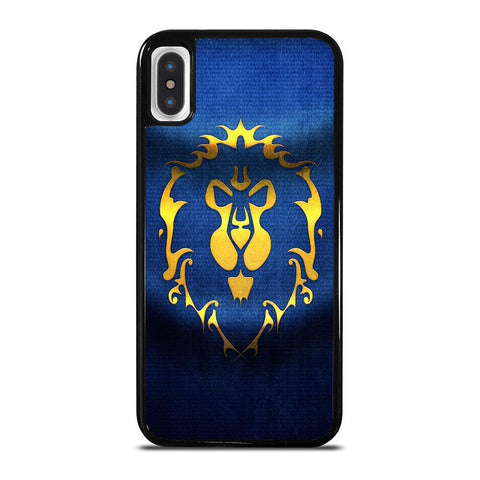 WORLD OF WARCRAFT ALLIANCE WOW FLAGE-iphone-x-case-cover