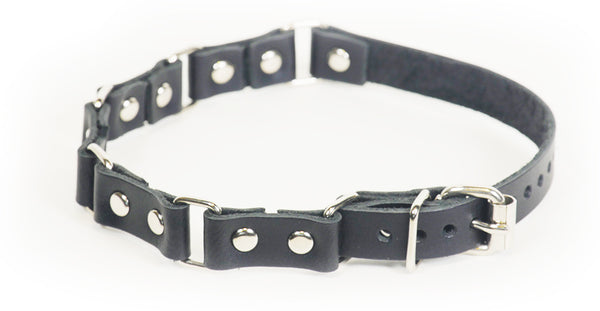 Chaingang leather collar