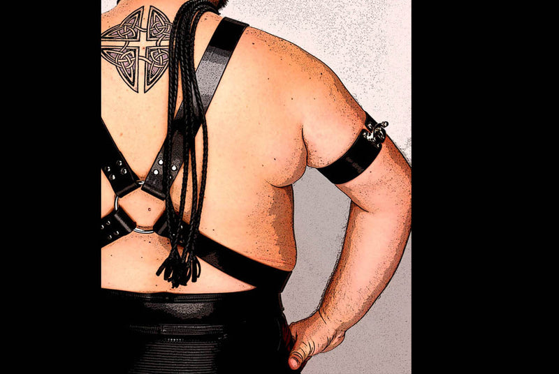 Heavy Classic Chest Harness, back view