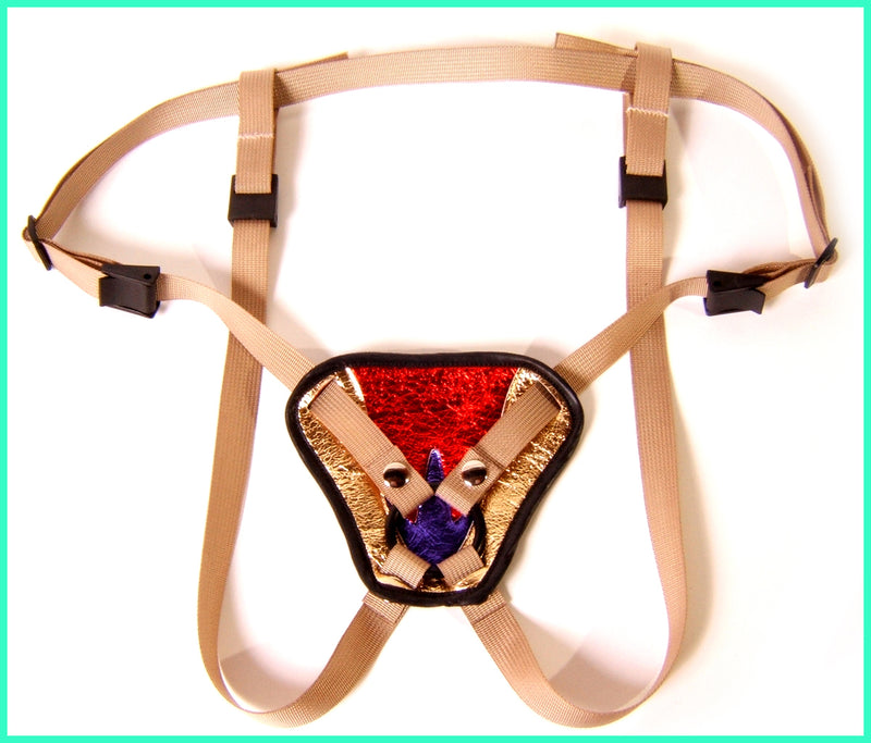 Superwoman Harness with gold straps
