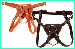 Orion Harness for Men, shown here in cinnamon and black