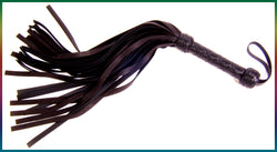 The Premium Hybrid flogger, combo elk hide and belting leather