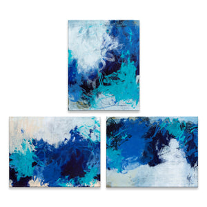 'Triple Blue I, II & III' by Tammy Staab