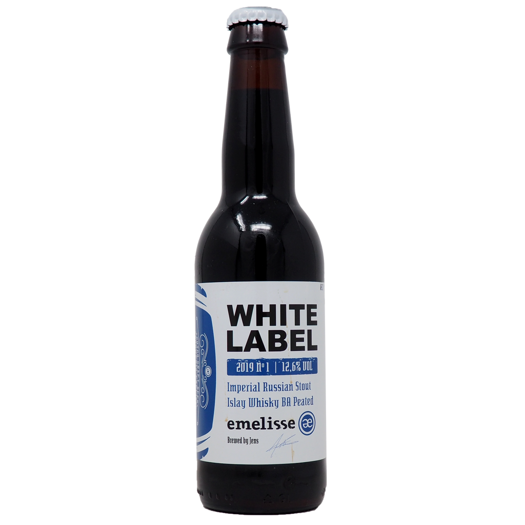 White Label Imperial Russian Stout Islay Whiskey BA Peated 2019 from Emelisse