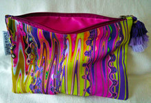 Load image into Gallery viewer, Psychedelic pink cosmetic pouch