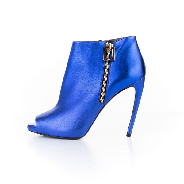PEEP TOE BOOTIE BLUE MAGIC