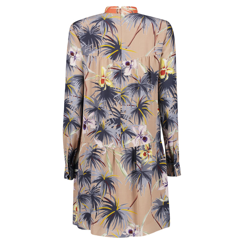 TROPICAL PALM BOW DRESS