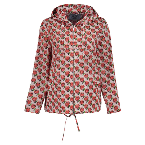 RED PRADA HEART RAINCOAT